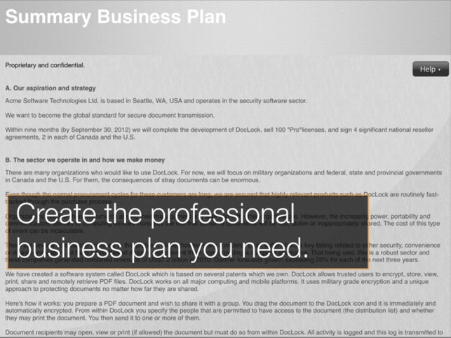 StratPad Business Plan Writer on the App Store
