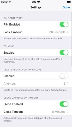 MiniKeePass Screenshot