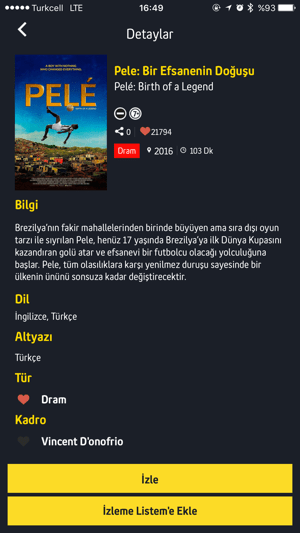 Turkcell TV+ Screenshot