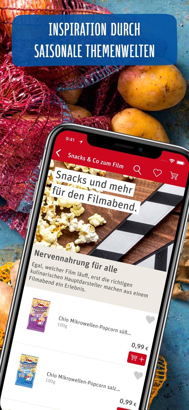 REWE Online Supermarkt Screenshot