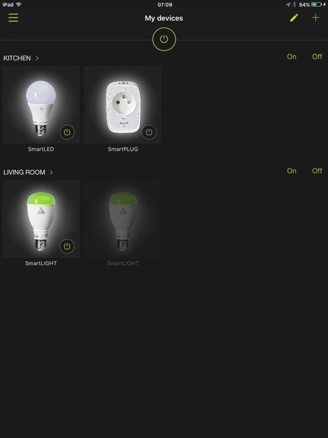 AwoX SmartCONTROL Capture d'écran