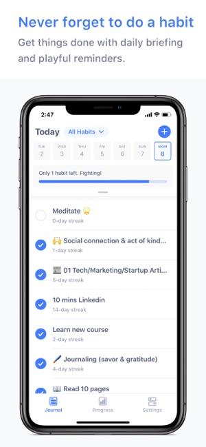 Habitify: Seguidor de Hábitos Screenshot