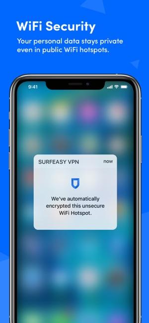 SurfEasy VPN - WiFi Proxy Screenshot
