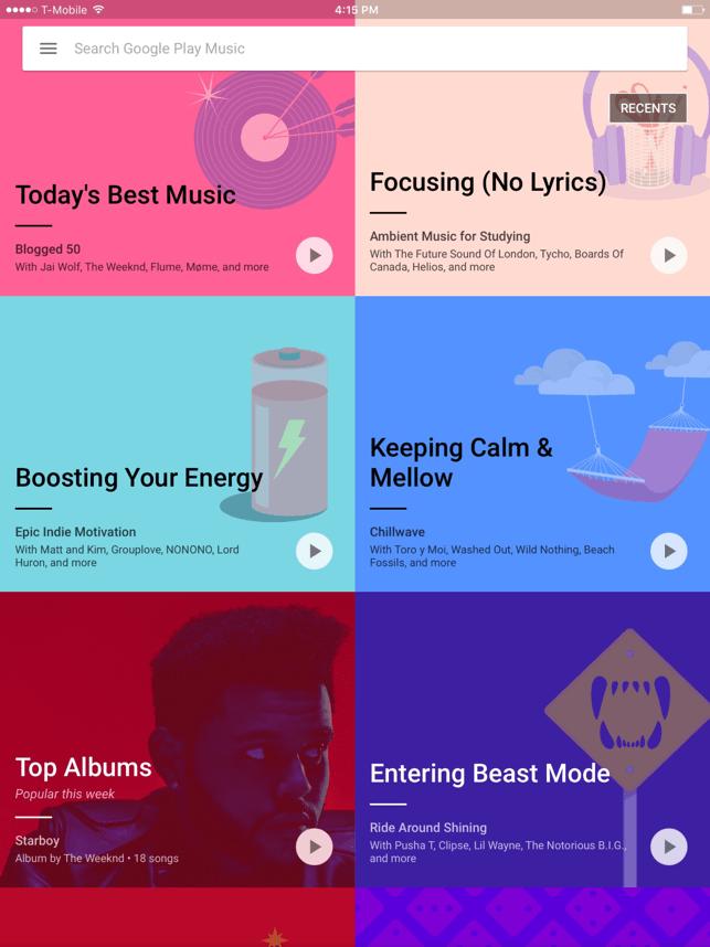 Google Play Music Screenshot