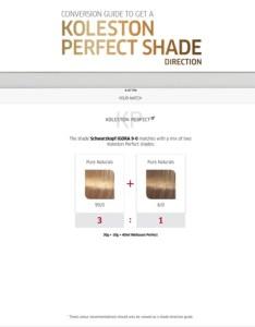 Koleston perfect shade chart on the app store also rh itunesle