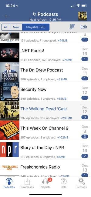 iCatcher! Podcast Player Screenshot