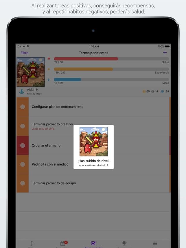 Habitica: Mantén la motivación Screenshot