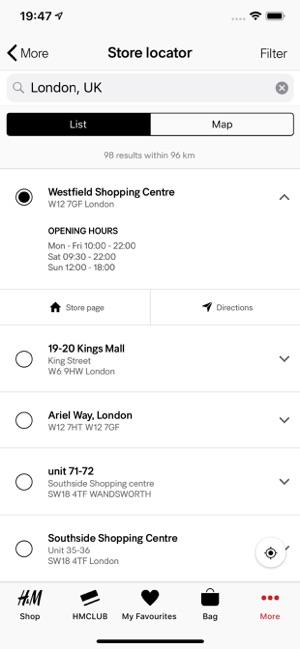H&M App Screenshot