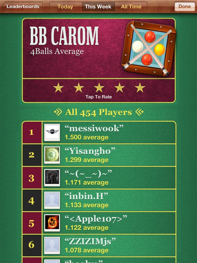 BB Carambola Billar Screenshot
