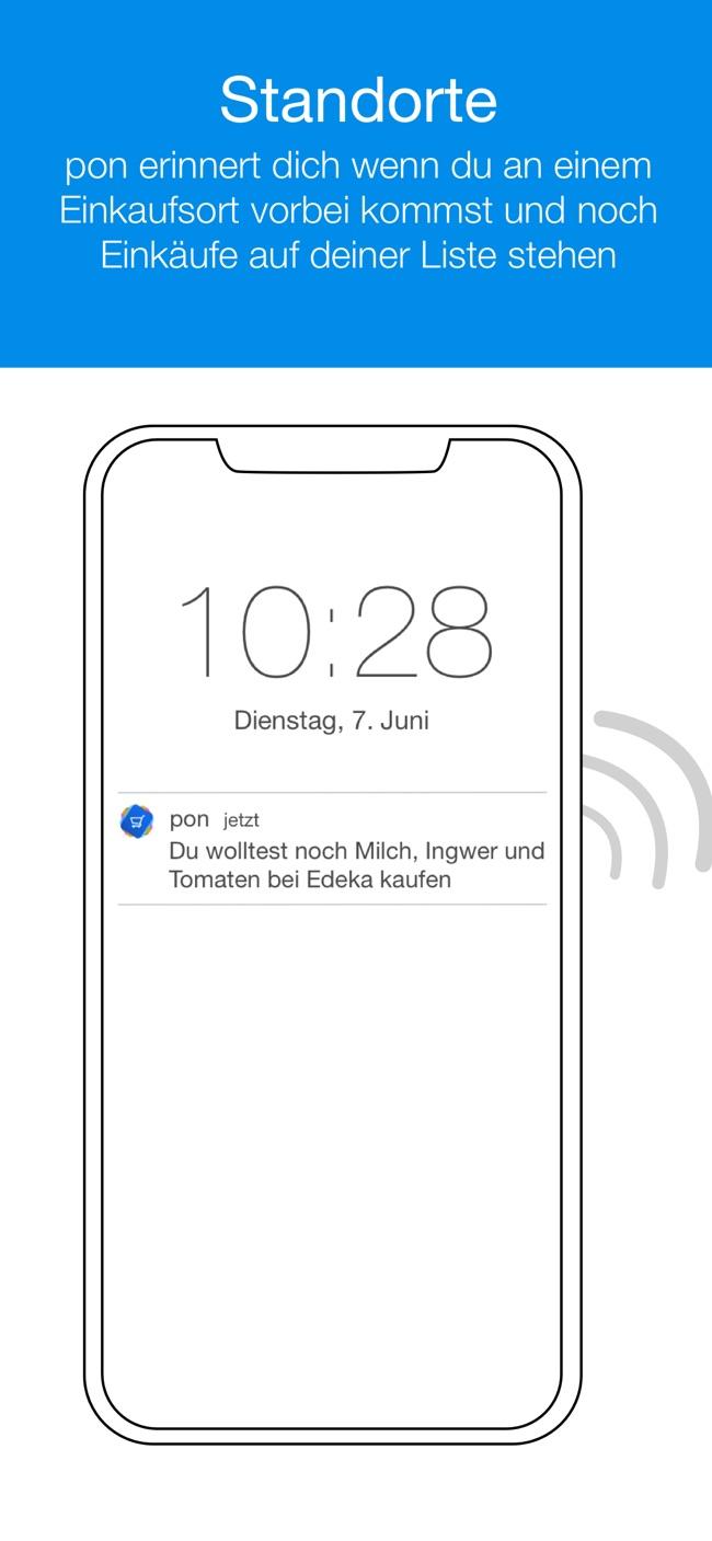 pon - mobile Einkaufsliste Screenshot
