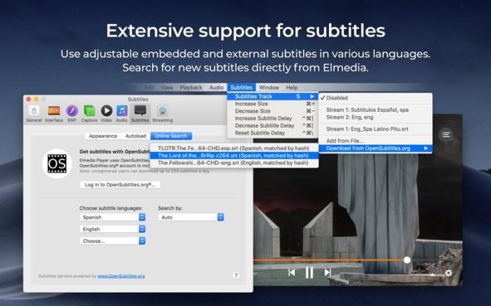 Elmedia:universal video player Screenshot 07 57shrun