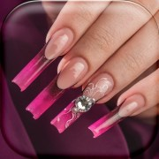 3d nails game girls learn