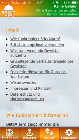 BlitzAlarm - Gewitterwarnung von nowcast Screenshot