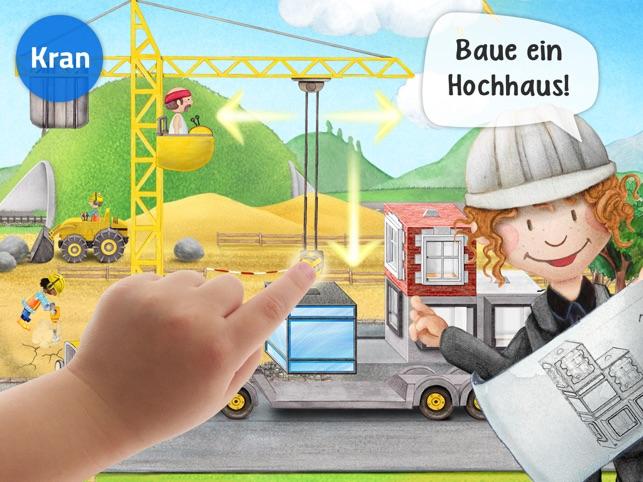 Meine Bauarbeiter: Bagger, Kran & Laster Wimmelapp Screenshot