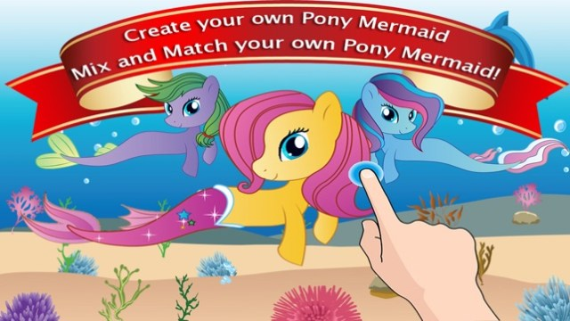 Dress Up Games for Girls - Fun Mermaid Pony Games Screenshot