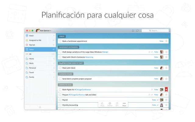 Wunderlist: Lista de tareas Screenshot