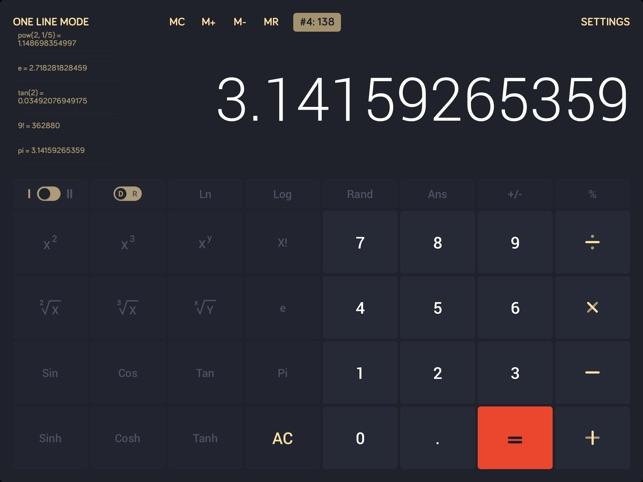 Calcly: Free Universal Calculator for iPad Screenshot