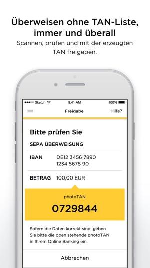 Commerzbank photoTAN Screenshot