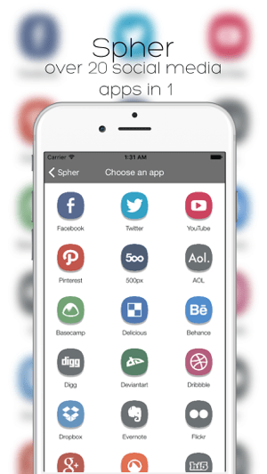 ‎Spher - All Social Media Apps In One App Free Screenshot