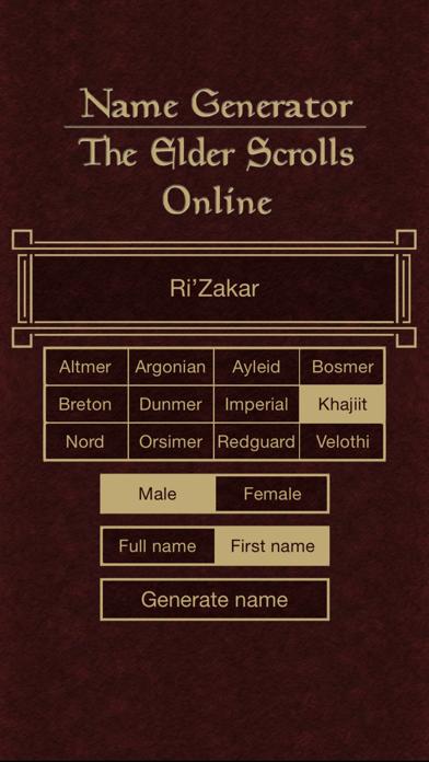 Orsimer Name Generator : orsimer, generator, Generator, Elder, Scrolls, Online, Alexander, Sanning, (iOS,, United, States), SearchMan, Information
