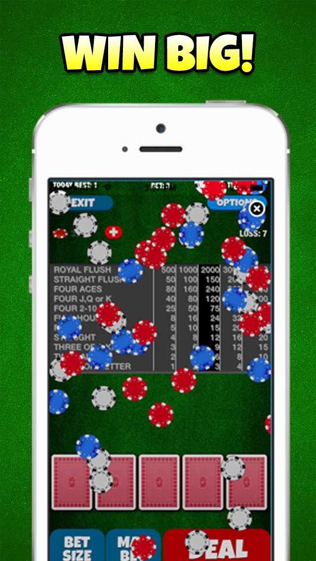 4 Aces Casino Video Poker - Double Down FREE Edition 1.0  IOS