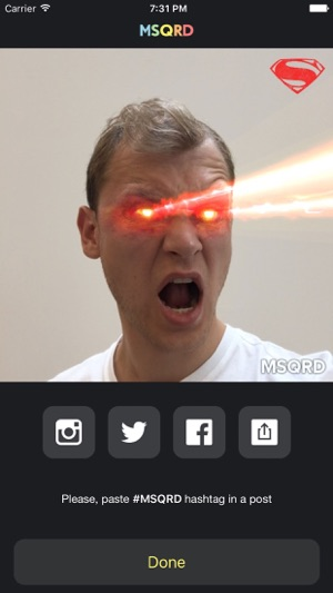 MSQRD — Live-Filter für Video-Selfies Screenshot