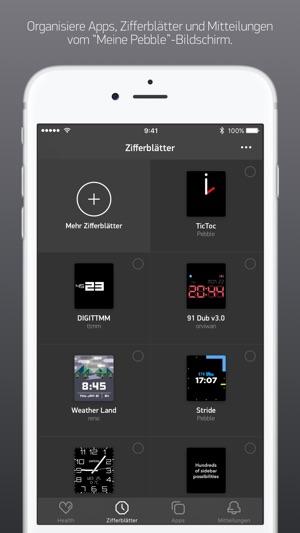 Pebble™ Screenshot