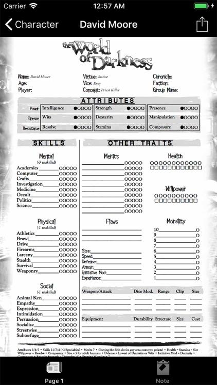 Real Sheet: NWOD Human ∞ by B4B0PaD