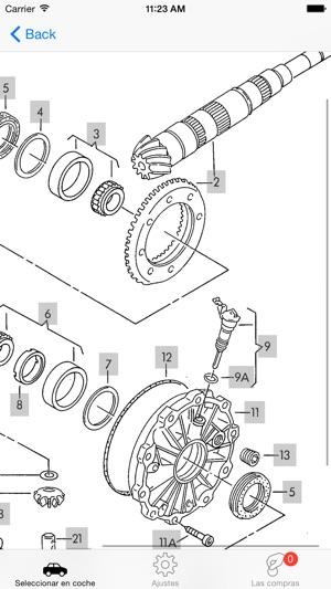 Piezas Audi y diagramas en App Store