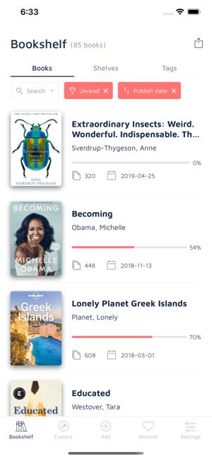 Bookshelf-Your virtual library Screenshot