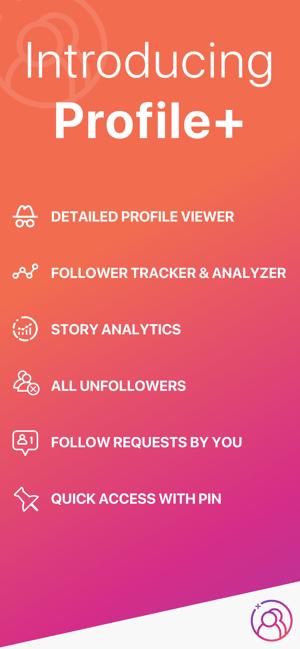 Profile+ Followers Tracker Screenshot