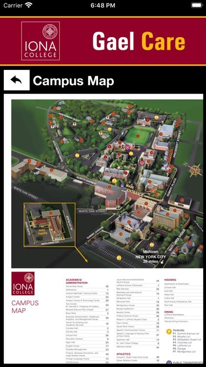 Iona College Map : college, College