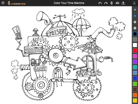 Time Machine Coloring Pages Coloring Pages