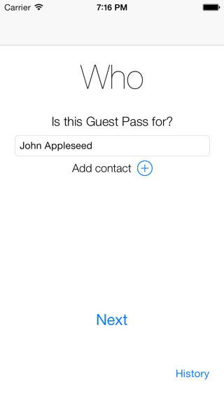 Guest Pass Screenshot