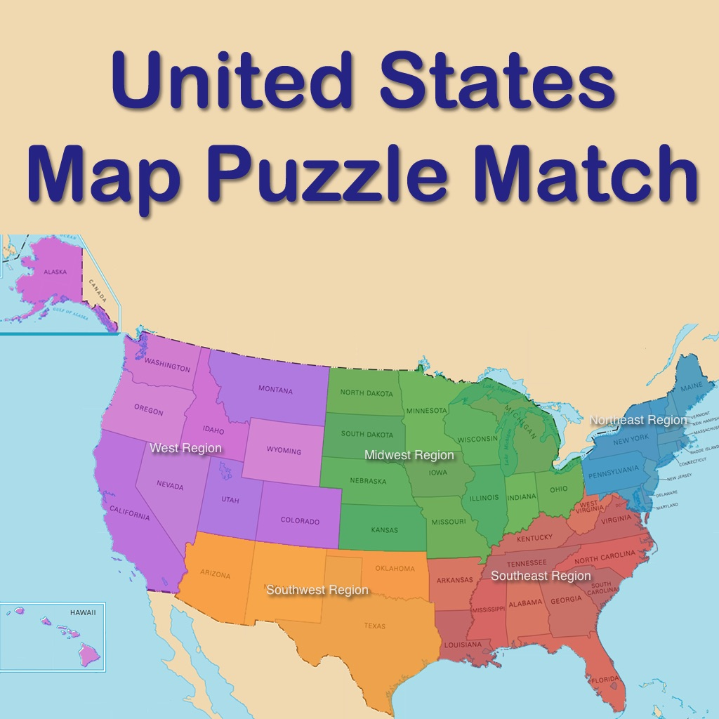 Us States And Capitals Puzzle Match On The App Store