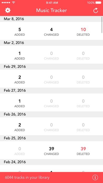 Screenshot do app Music Library Tracker