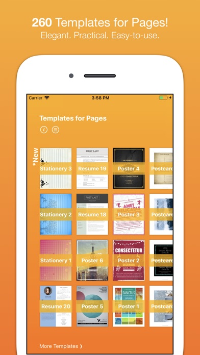 pages resume templates ipad