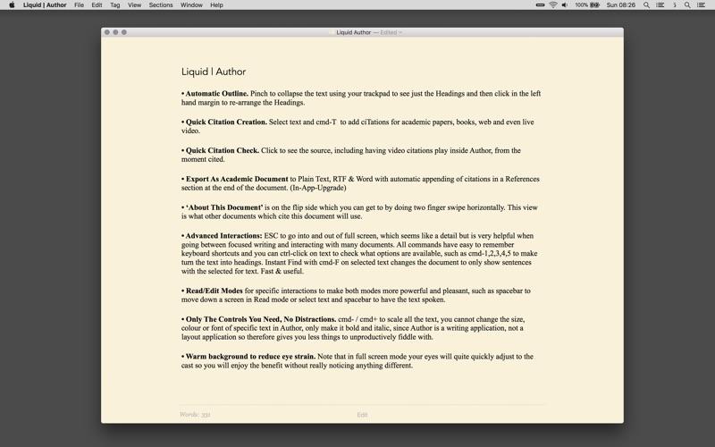Liquid | Author for Mac 1.5.2 破解版 - 文编编辑器