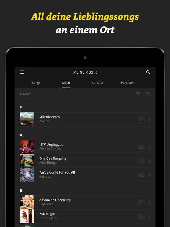 JUKE Musik Screenshot