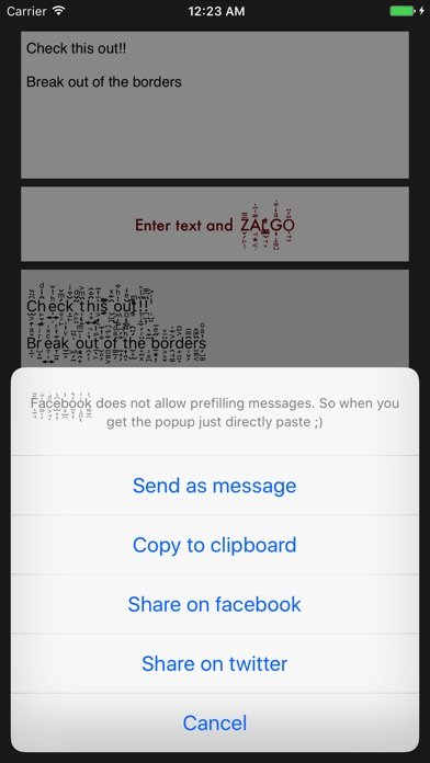 Zalgo Text AppAddict