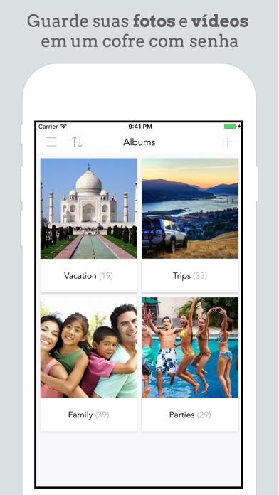 Screenshot do app Safe Vault - Esconder fotos