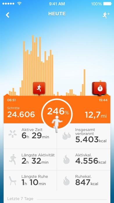 UP by Jawbone - Aufzeichnen mit UP Move™, UP24™ Screenshot
