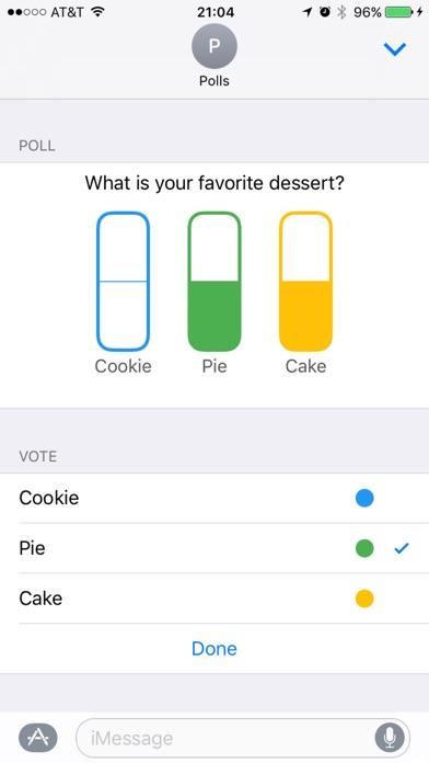 Umfragen mit Freunden Screenshot