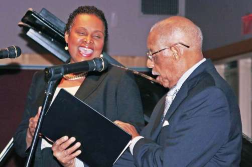 Alfrelynn Roberts and Dr Romeo Phillips