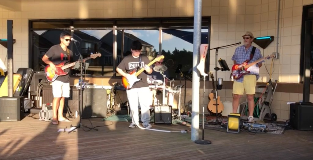 Isaac Macias playing with Big Drink Music Co. at RuckerJohns in Emerald Isle, NC.