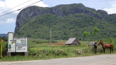 Vinales, the tobacco-growing region of Cuba.
