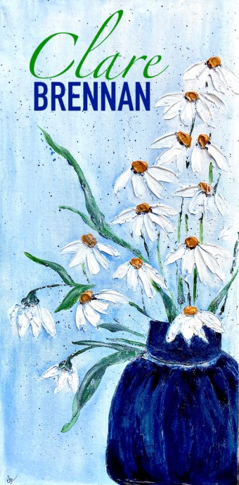 Summer = Weathered Pottery and Roadside Daisies 12x24