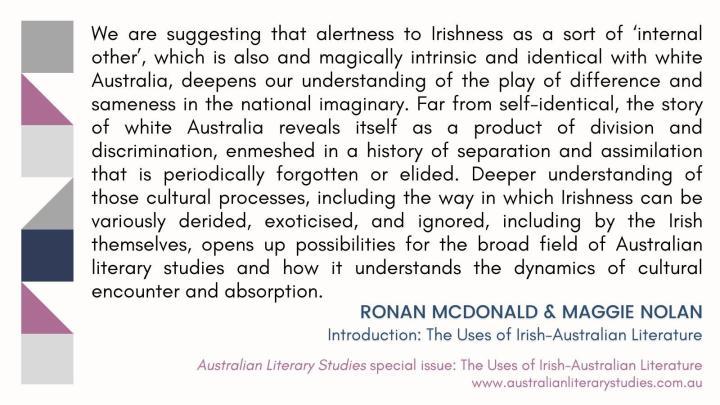 ALS Special Issue: The Uses of Irish-Australian Literature
