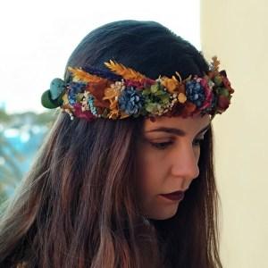 Corona Flores y Espigas