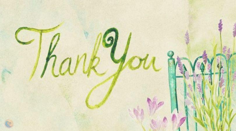 Dar las gracias con reconocimiento